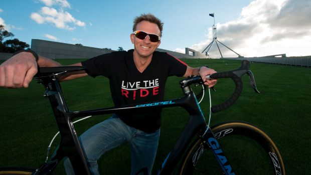 Public servant Eric Aichinger will cycle 2200km for charity.