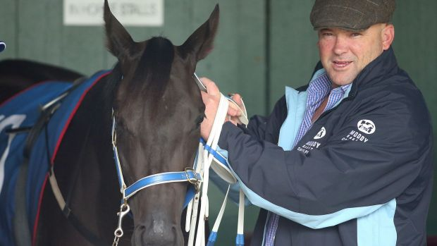 Fined: Peter Moody in the mounting yard at Sandown Lakeside.