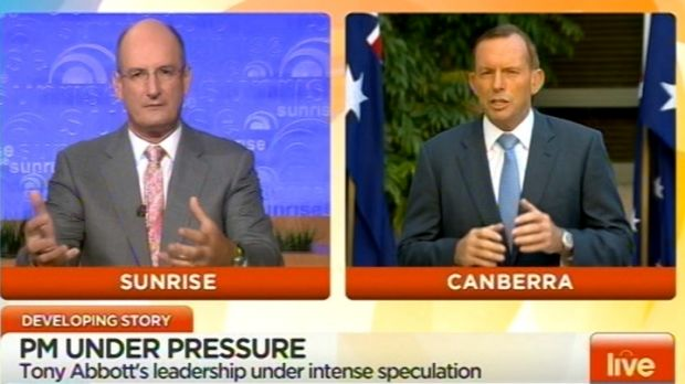 David Koch grills the Prime Minister on Sunrise.