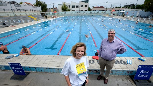 Lilian Eason Hubbard and father Leigh Hubbard played key roles in the fight to keep Fitzroy pool open and joined a mass ...