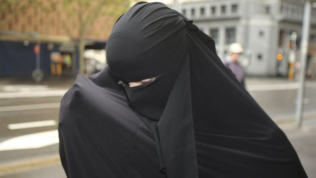 Committal date: Fatima Elomar leaves Downing Centre courts.