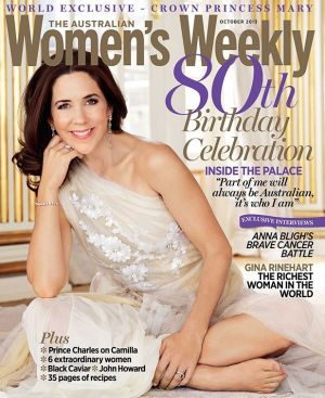Covergirl: Princess Mary on the cover of The Australia Women's Weekly's 80th anniversary issue in 2013.