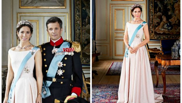 Official snap: Princess Mary and Prince Frederik's new official portraits have been released.
