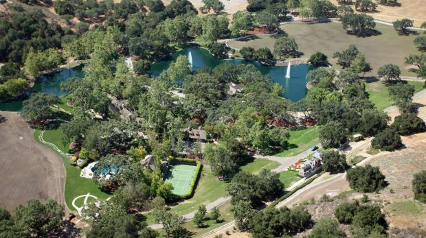 Michael Jackson's Neverland ranch sits on 2,698 acres.
