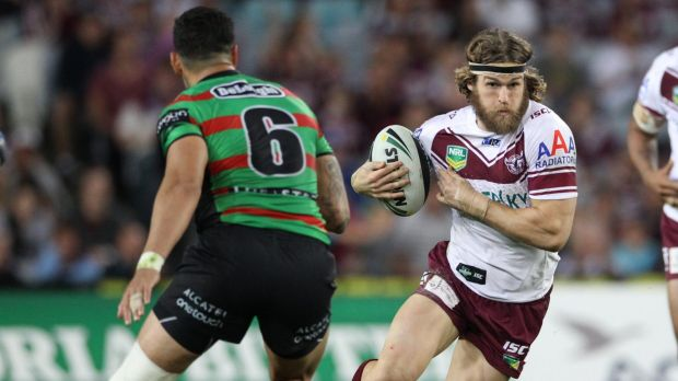 Back from his ban: Manly's David Williams.