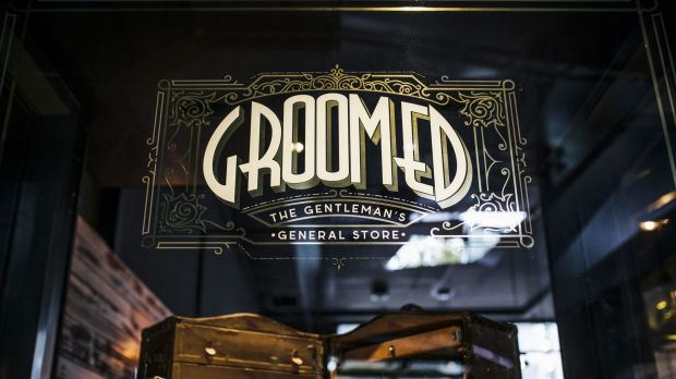 New barber and 'gentleman's store', Groomed in the Ori building on Londsdale St.