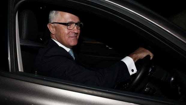 Malcolm Turnbull arrives at Parliament House on Wednesday.