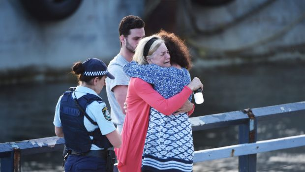Distraught relatives of Carl Salomon, who died in an accident in Balmain after a night out with friends, gathered at the ...