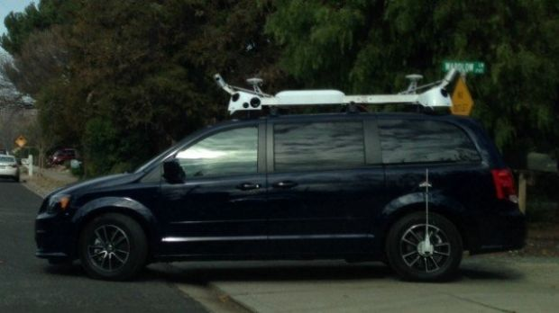 One of Apple's mysterious vans, reported in the US as a 'self-driving car'.