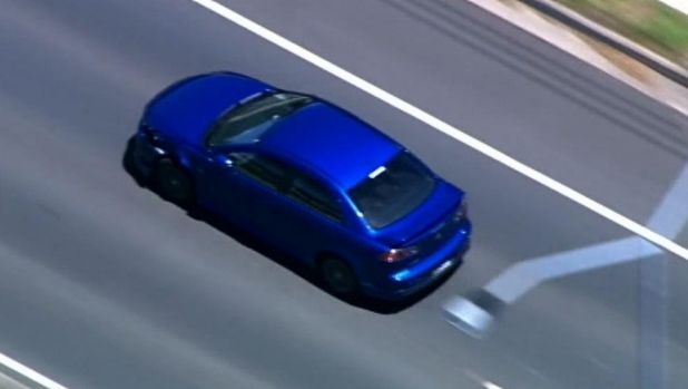 Police are chasing a vehicle through north Brisbane.