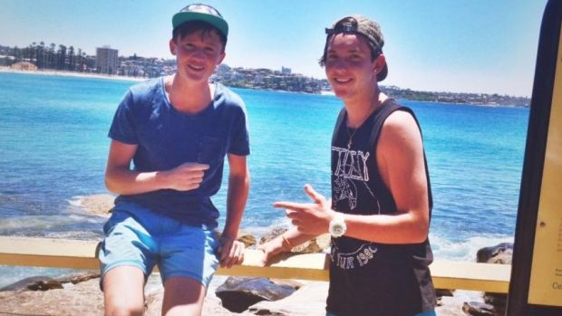 Matt Dyer, right, died after falling from a Blue Mountains lookout.