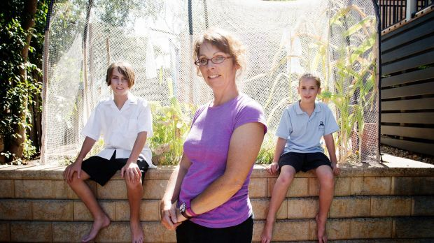 Sonja Terpstra and her children Daniel and Jessica at home in Heidelberg. Sonja sends her children to government schools ...