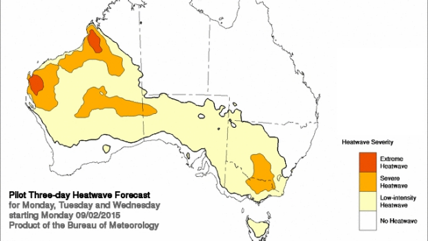 Heatwave continues from Monday over much of Australia.