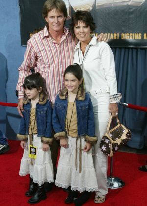 Bruce Jenner with Kris, Kylie and Kendall in 2003.