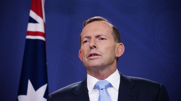 Prime Minister Tony Abbott address the media after two Liberal MPs revealed plans to trigger a leadership spill.