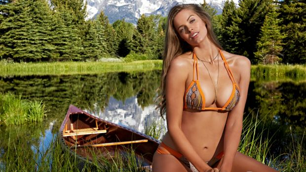 First: Australian model Robyn Lawley is the first size 16 model to appear in Sports Illustrated.