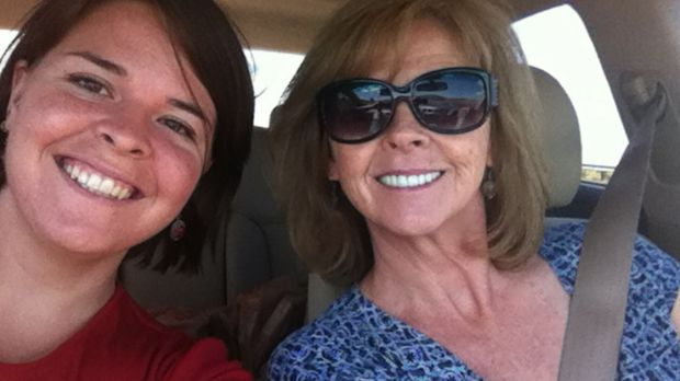 Kayla Mueller with her mother, Marsha Mueller.