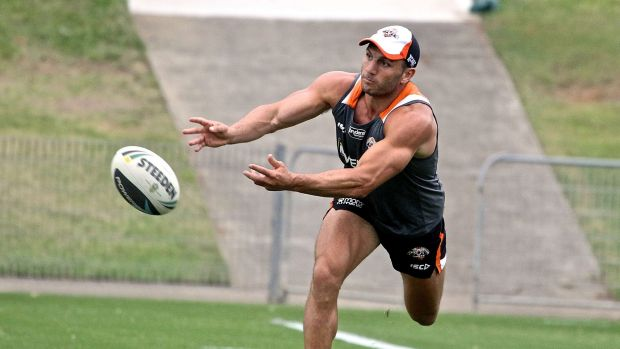 New season, new hopes: Robbie Farah spins a pass while training at Concord Oval.