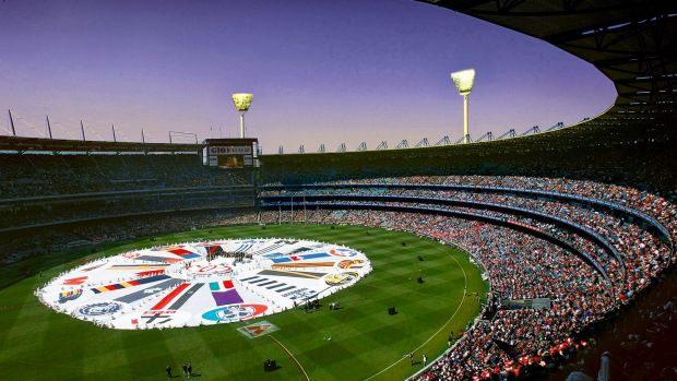 What a twilight grand final might look like (digitally altered image.)