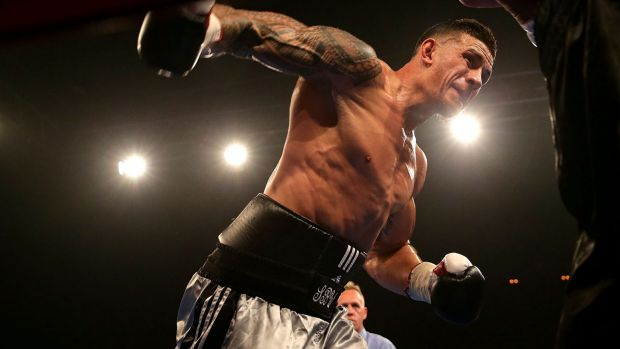 Working the body: Dean Waters reckons Sonny Bill Williams is too good looking for boxing, but has still done well.