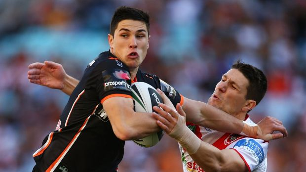 Making a mark: Wests Tigers youngster Mitchell Moses is part of a bright future at the club.