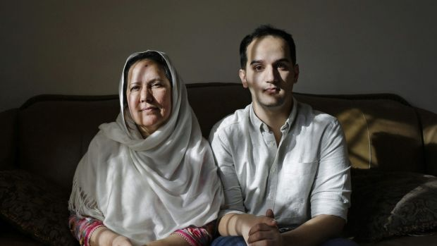 Shamim Syed, left, whose son Adnan was convicted for the 1999 murder of his ex-girlfriend alongside her son Yusef in her ...