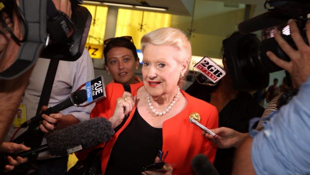 Speaker Bronwyn Bishop in Canberra on Sunday.