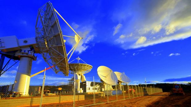 Two billion dollar project: Satellite dishes in Wolumla, NSW  one of 10 ground stations.