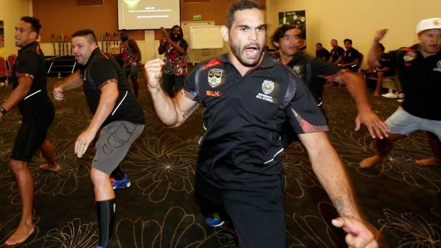 'A legacy for the future': Greg Inglis leads the Indigenous All Stars in practising their new war dance.