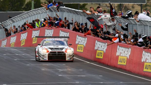 Fast and furious: Nissan's GT-R took a thrilling victory in the 2015 Bathurst 12 Hour on Sunday.