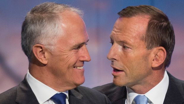 Malcolm Turnbull with Tony Abbott: Labor would prefer to face a damaged PM at the next election rather than a popular one.