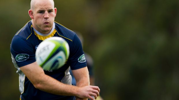 Set to play: Brumbies skipper Stephen Moore.