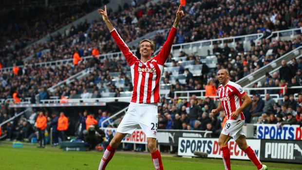Star power: Striker Peter Crouch is not likely to be heading to the A-League.