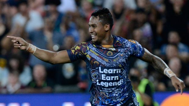 Hatchet buried: Indigenous All Stars representative Ben Barba.
