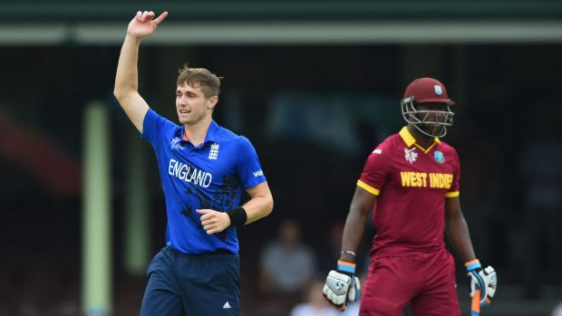 Chris Woakes took five wickets for England.