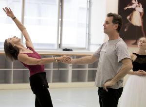 "(From left) Maina Gielgud, Steven Heathcote and Natasha Kusch rehearsing ""Giselle""."