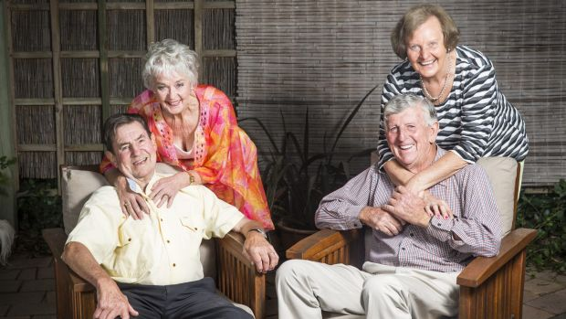 Des and Noreen Bird with Bill and Lee Mahoney. The two couples have been friends for over 45 years and are celebrating ...