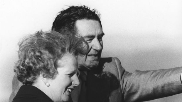 Lyall Gillespie shows Canberra to visiting British prime minister Margaret Thatcher