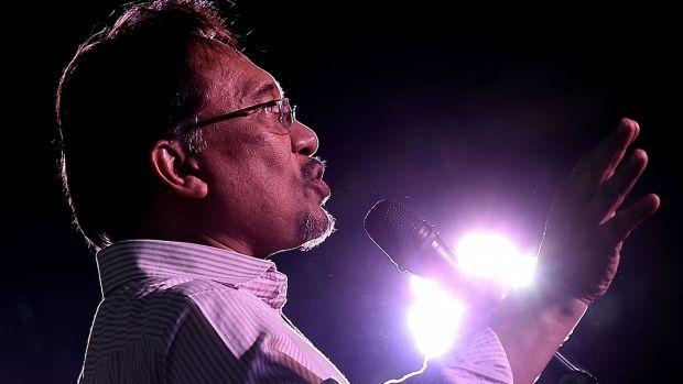 Malaysian opposition leader Anwar Ibrahim in Kuala Lumpur on Monday.