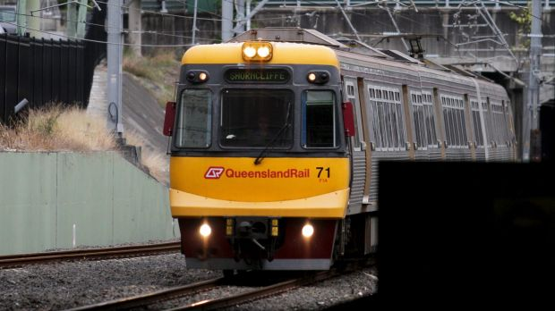 A man has been charged with public nuisance after an incident on a train at Thornside station.
