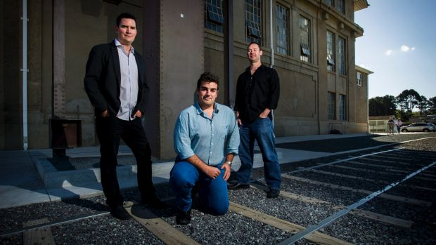 Members of the former Bullet Train for Canberra Tim Bohm (Molonglo), Chris Bucknell (Ginninderra) and Mark Erwood ...