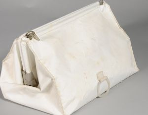 More than four decades after the Apollo 11 moon landing, the bag full of souvenirs brought back by astronaut Neil ...