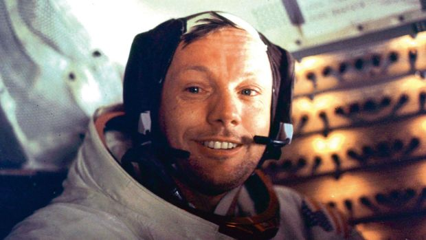 Neil Armstrong, pictured here on July 21, 1969.