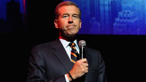 Not so trustworthy: Brian Williams has dropped down the list of most trusted Americans.