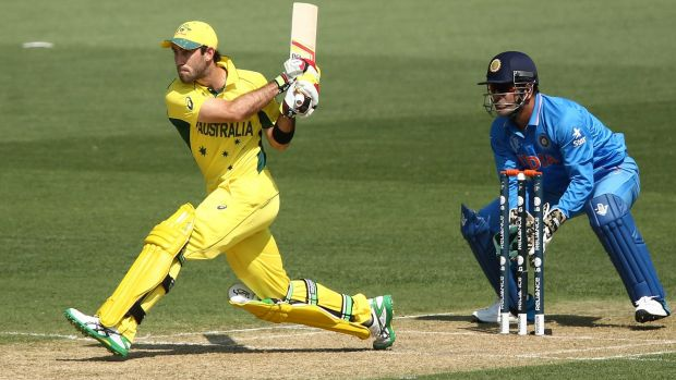 Talent to burn: Glenn Maxwell smashes a hundred in World Cup warm-up match.