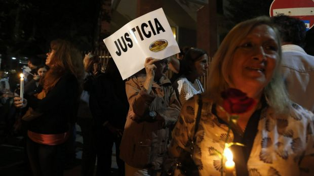 A candlelight vigil for late prosecutor Alberto Nisman in Buenos Aires.