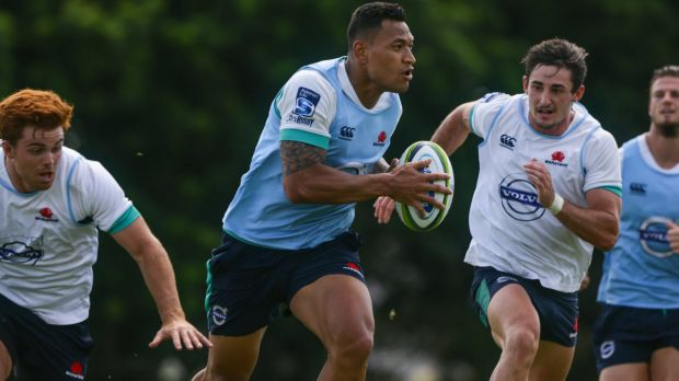 Focus: Israel Folau will stick to fullback for the time being.