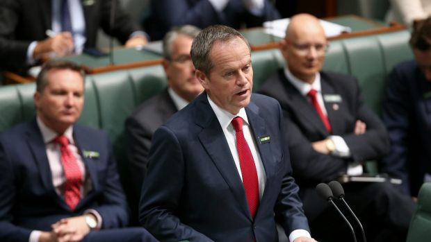 Opposition Leader Bill Shorten delivers a Closing the Gap statement at Parliament House.