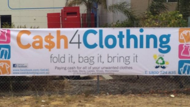 Cash4Clothing is offering 50 cents per kilogram for unwanted clothing.