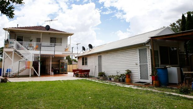 The granny flat at the rear of the house in Riverview Road, Fairfield.
